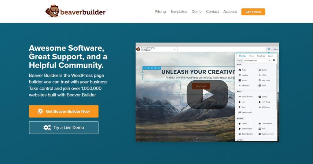 beaver builder homepage download homepage
