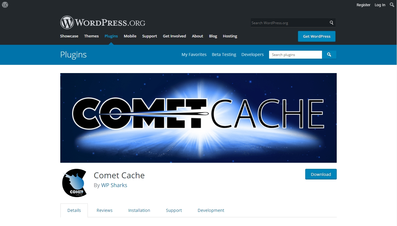 Comet Cache plugin download page