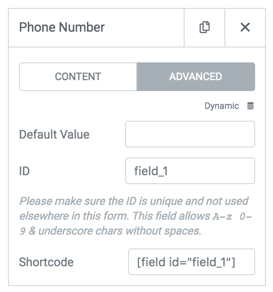 setting up the contact form advanced tab