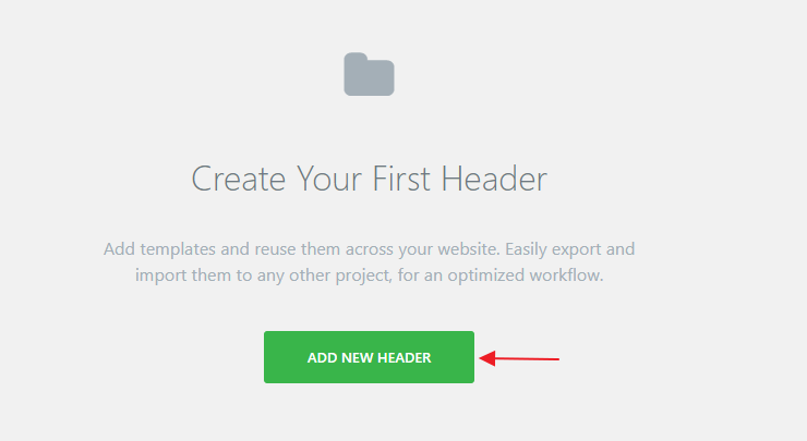 Create Your First Header Elementor Settings