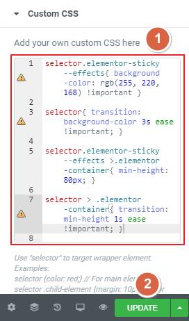 Custom CSS codes settings guide