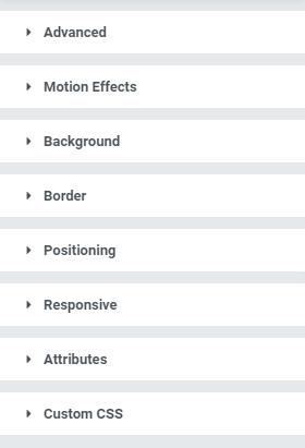 elementor advanced portoflio settings