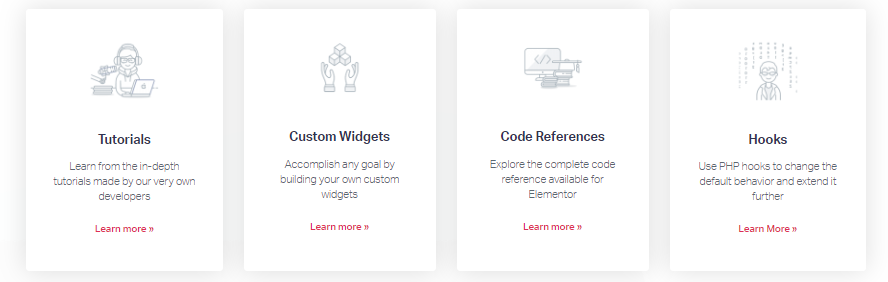 elementor code reference features