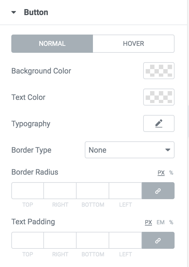 elementor contact form field button options