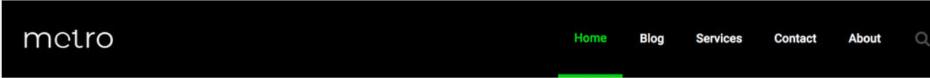 Sample number 3 of header built with elementor