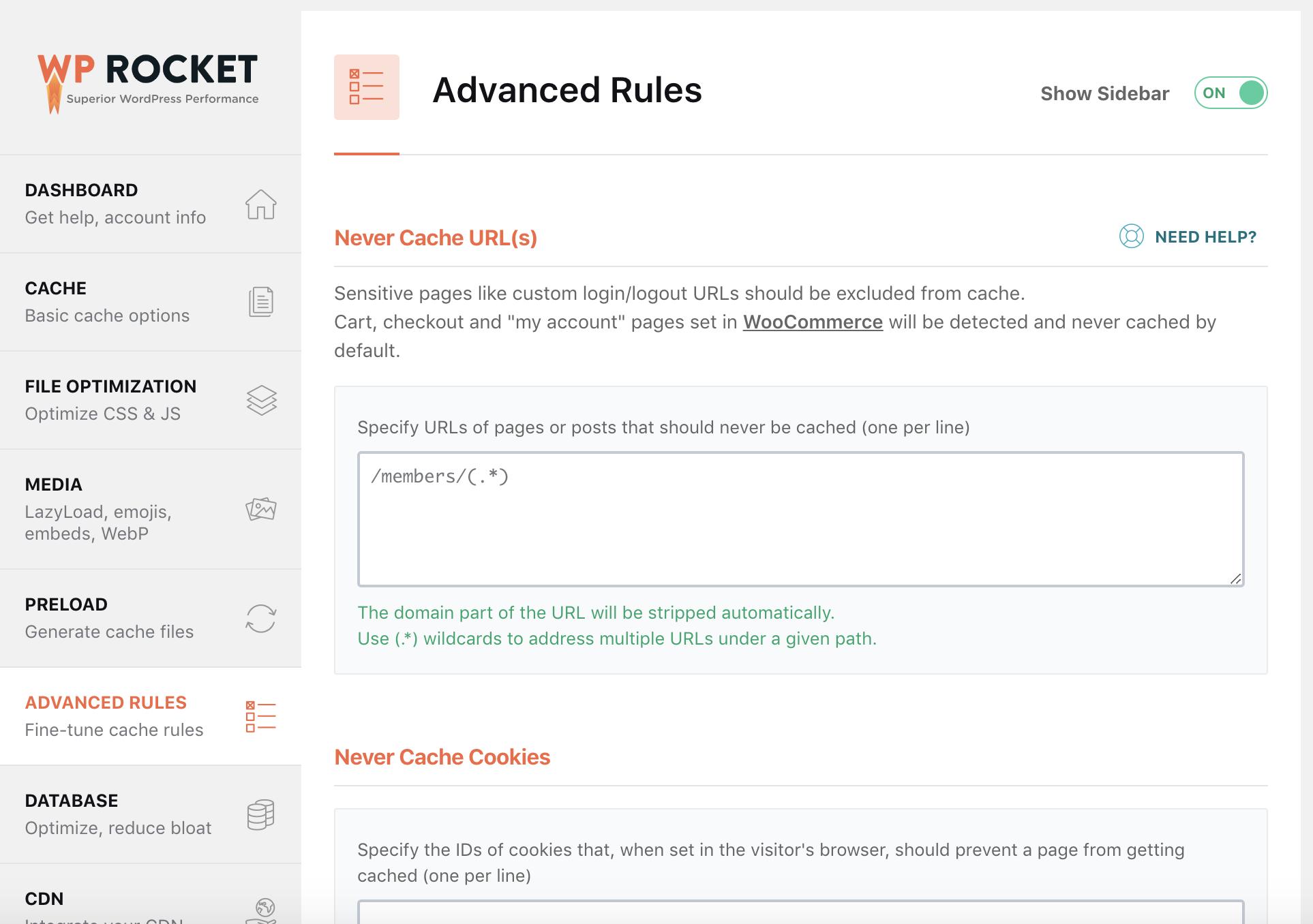 Plugin Cache Advanced Rules
