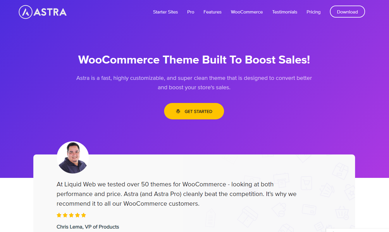 Best WooCommerce Themes - Astra