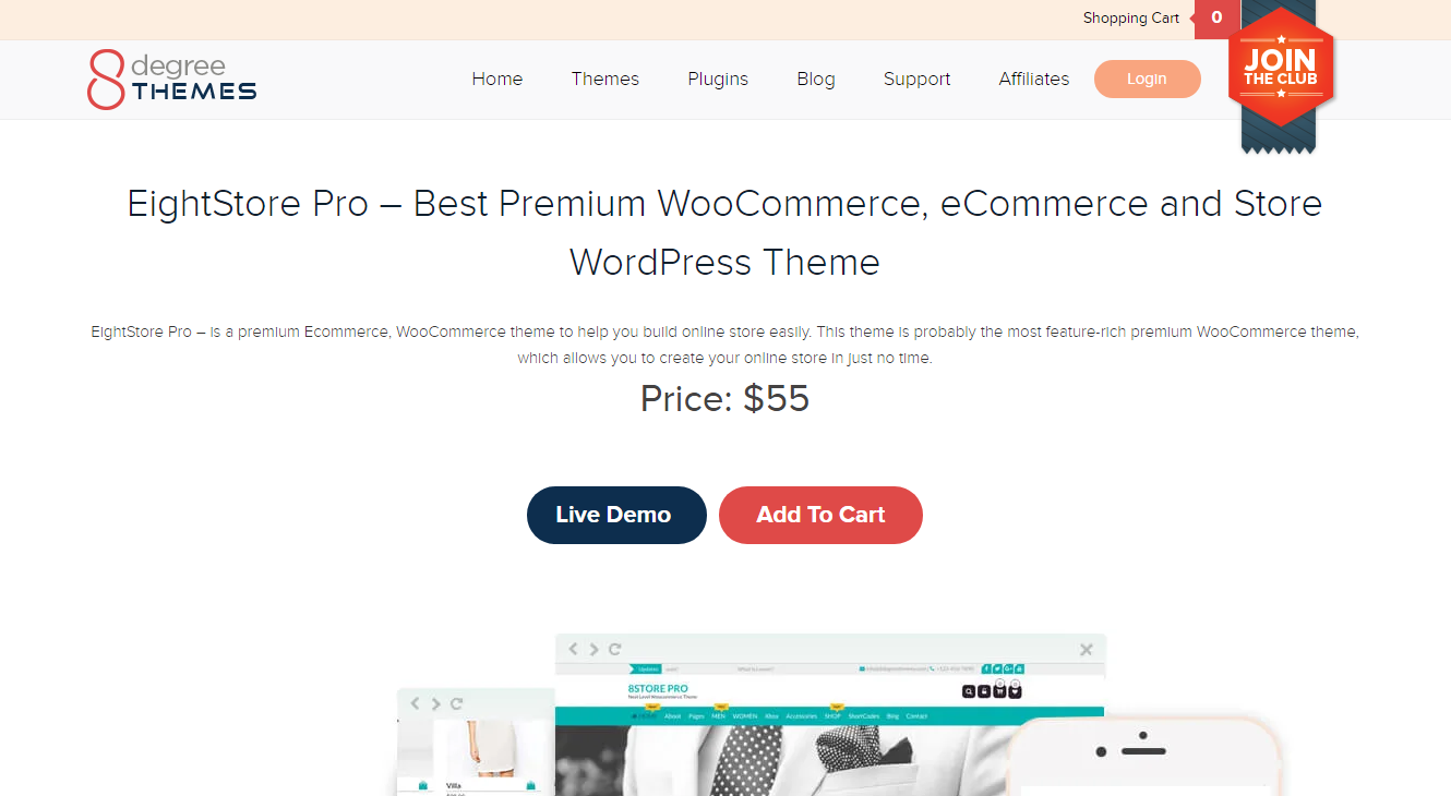 Best WooCommerce Themes - EightStore Pro  Pro