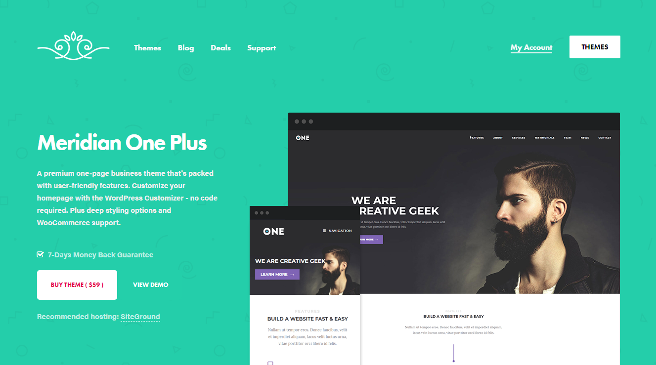 Best WooCommerce Themes - Meridian One Plus