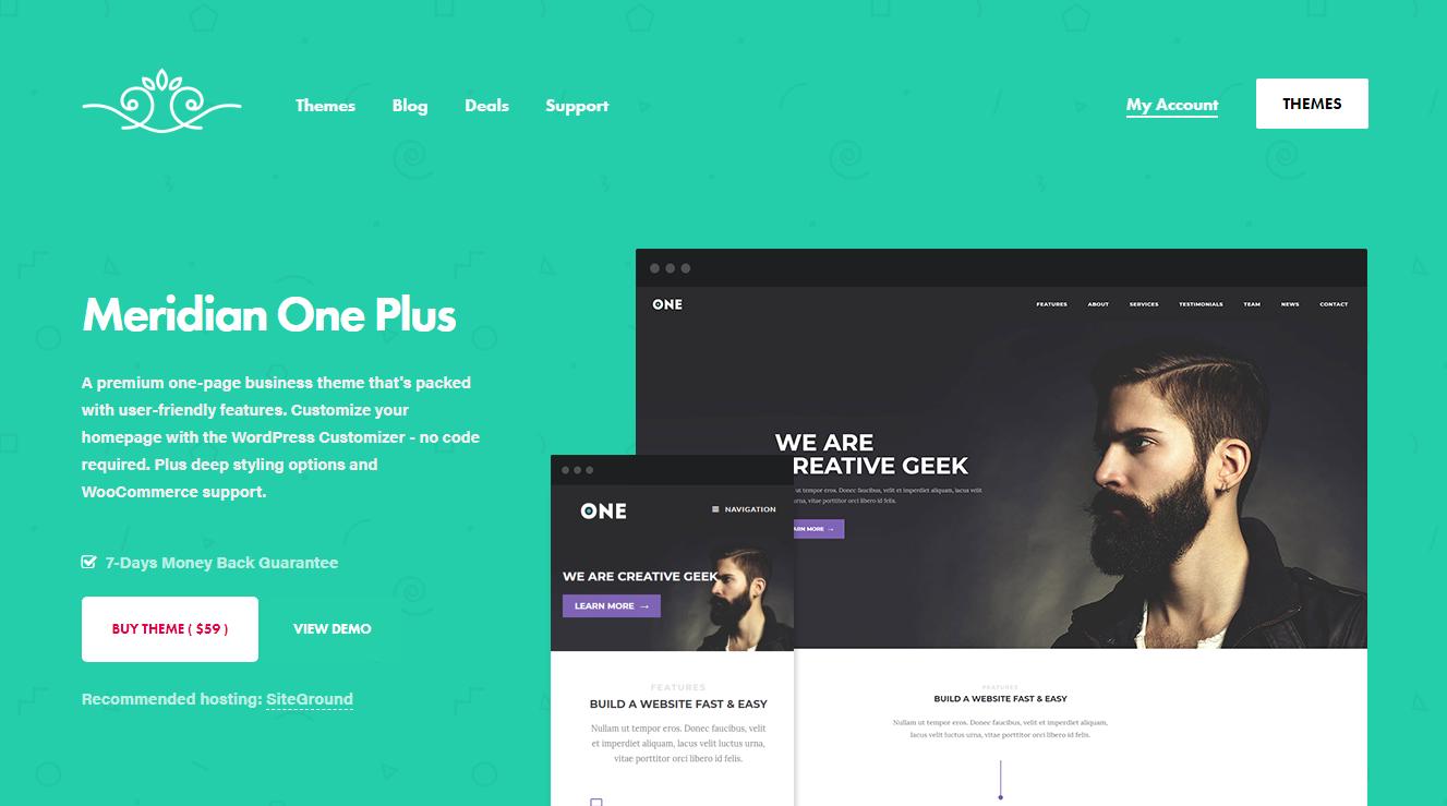 Best WooCommerce Themes - Meridian One Plus