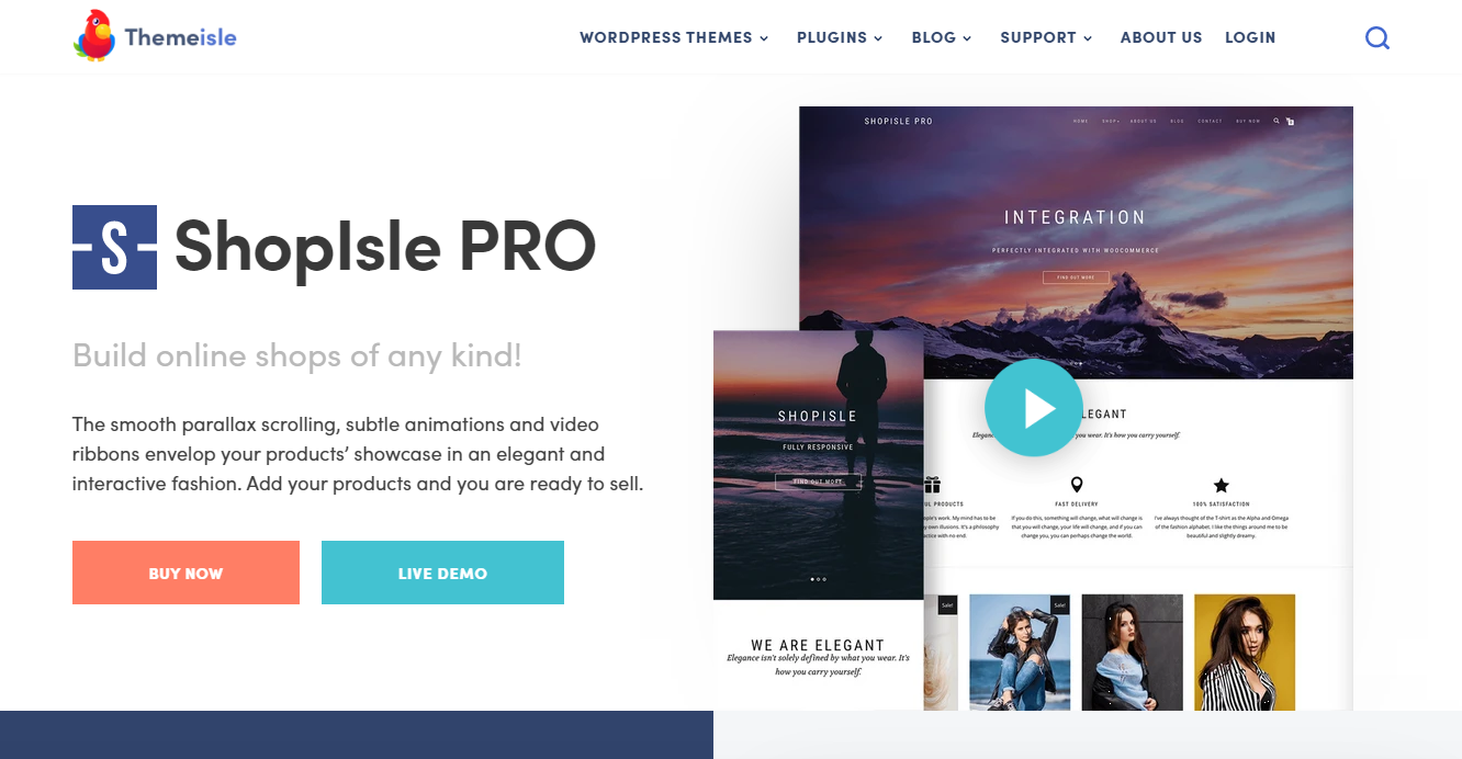 Best WooCommerce Themes - ShopIsle PRO