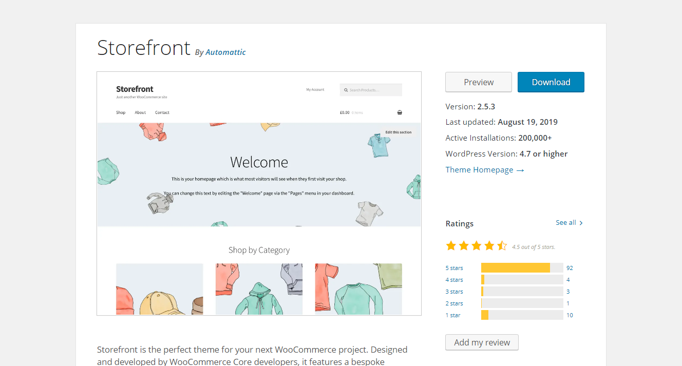 Best WooCommerce Themes - Storefront