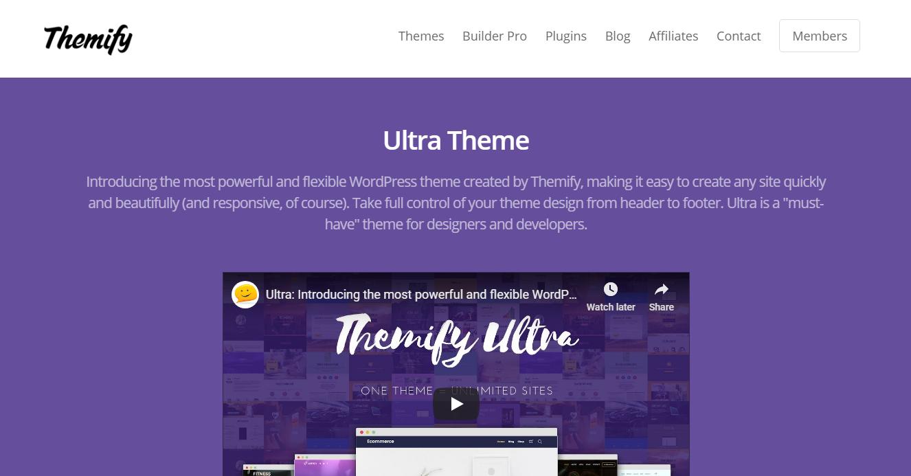 Best WooCommerce Themes - Ultra