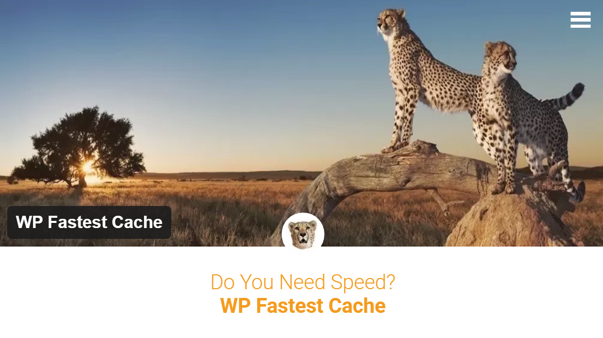 WP Fastest Cache Homepage