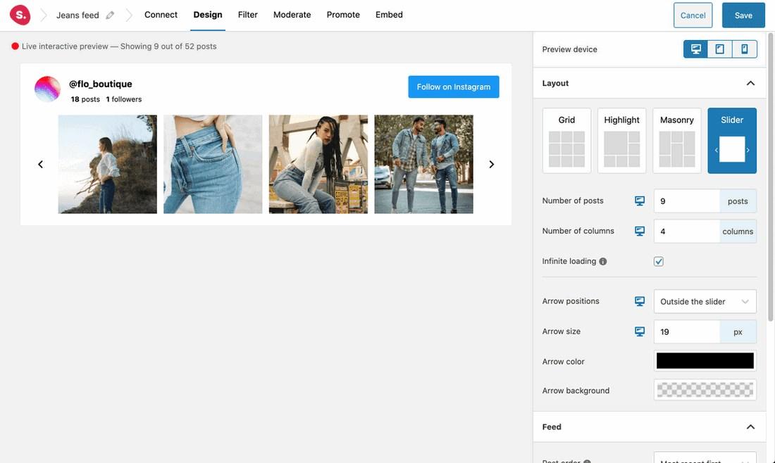 Spotlight feed Customization