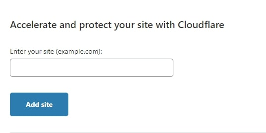 adding a site on cloudflare