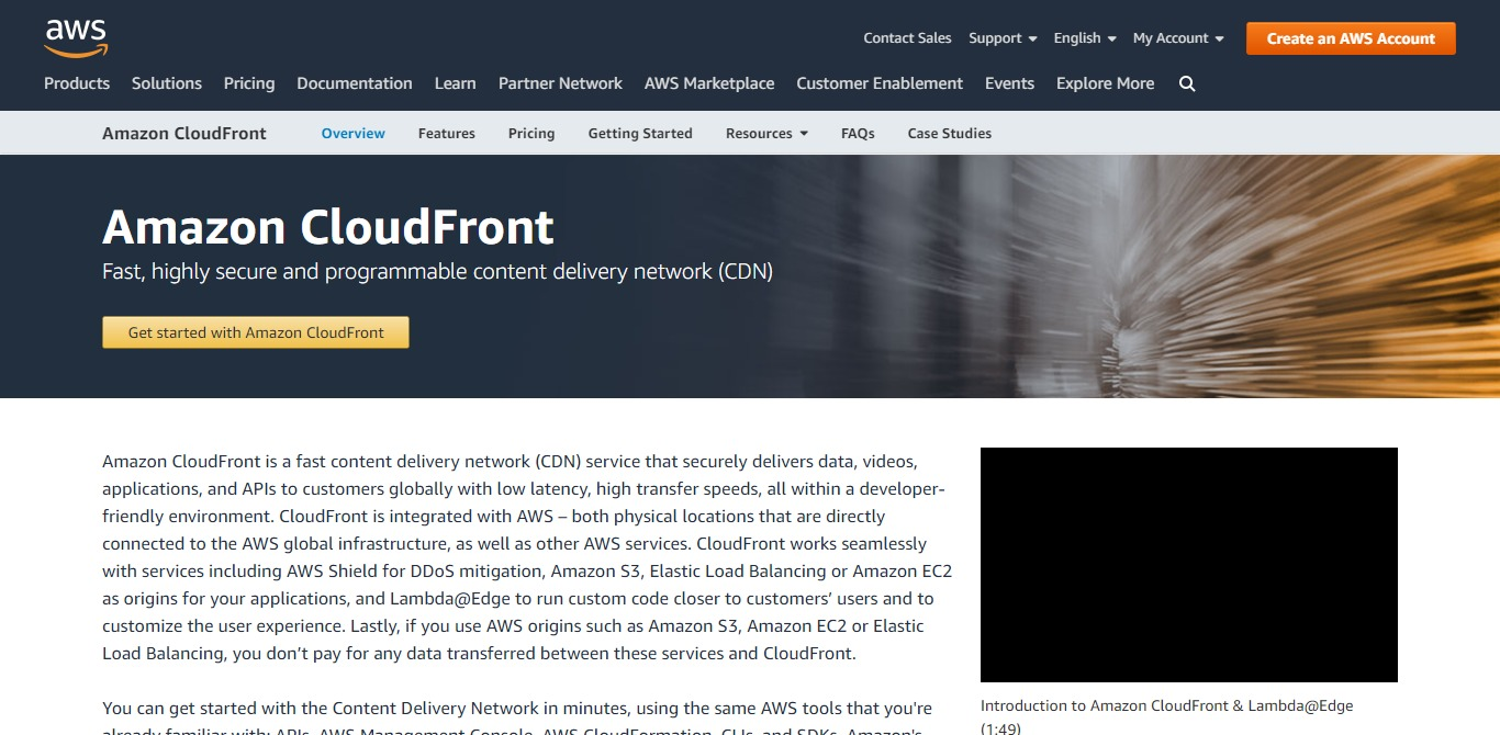 amazon homepage cloudfront screenshot