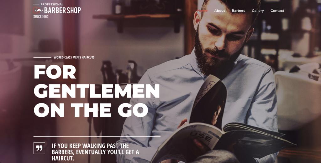 barber shop astra starter site