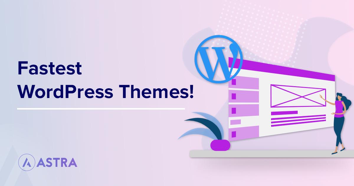 fastest wordpress themes banner