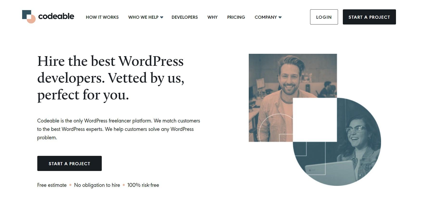 Codeable homepage screenshot