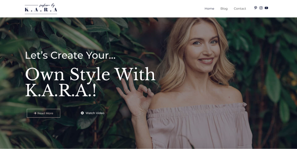 fashion lifestyle blog astra starter site
