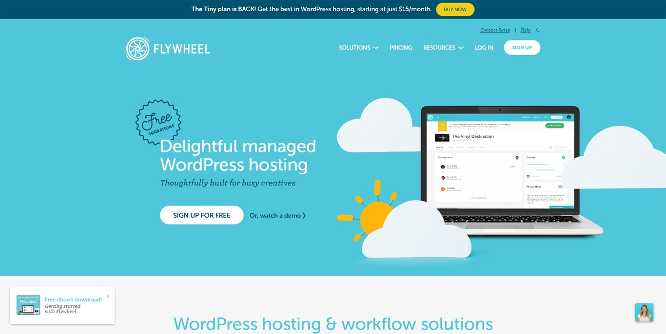 FlyWheel homepage