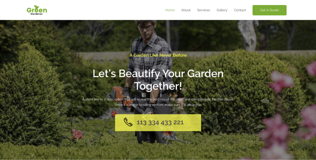gardening and landscaping astra starter site