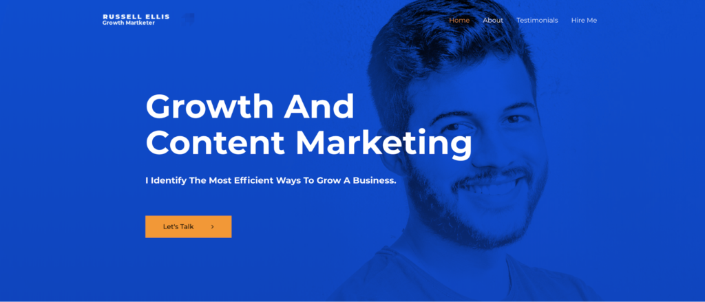 growth marketer astra starter site
