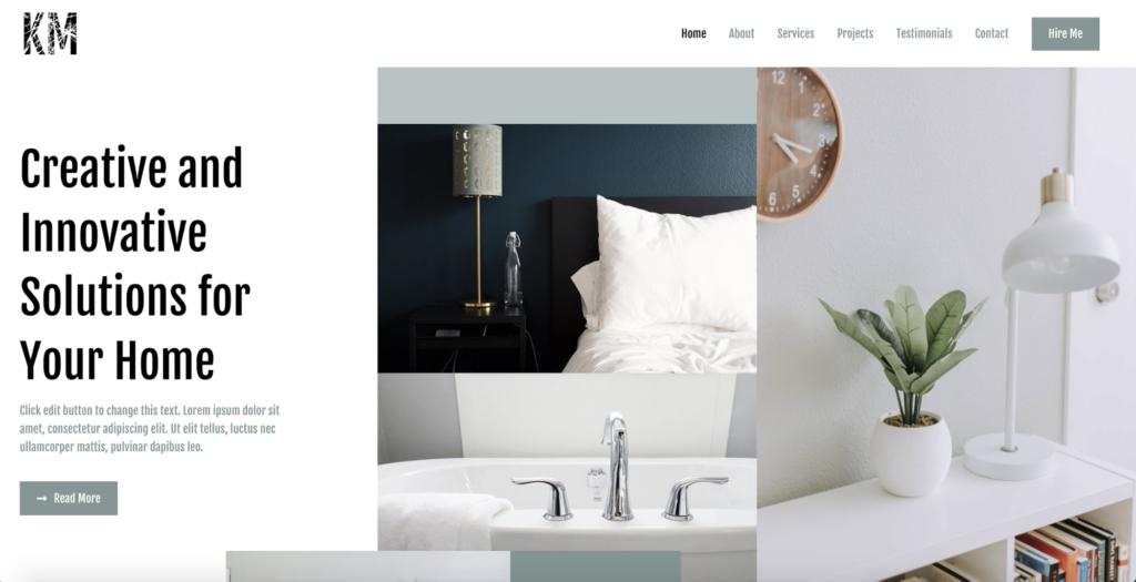 interior designer astra starter site