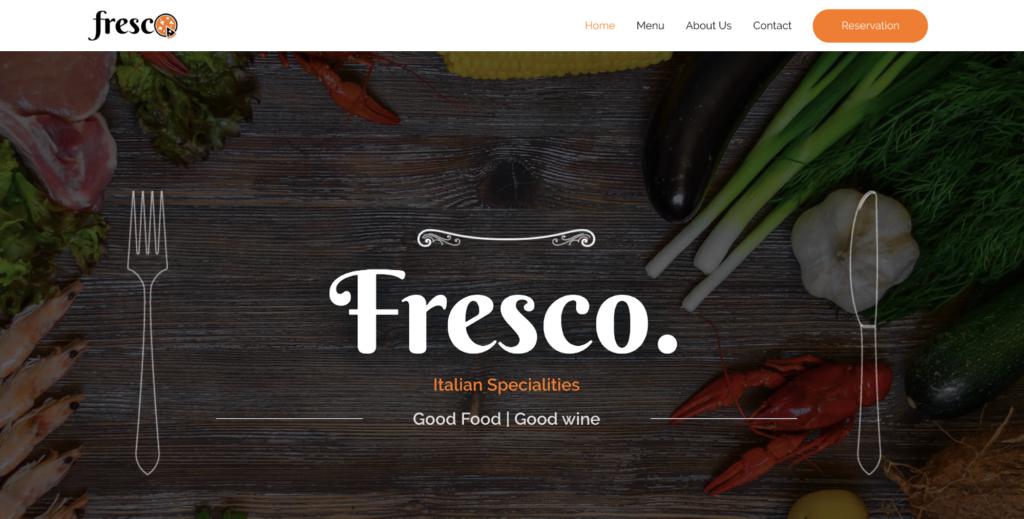 italian restaurant astra starter site