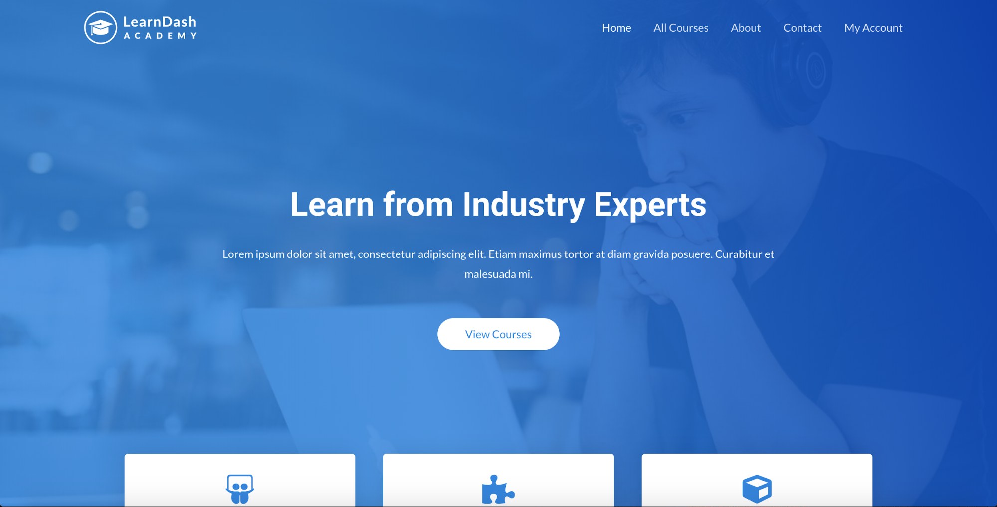learndash academy starter site