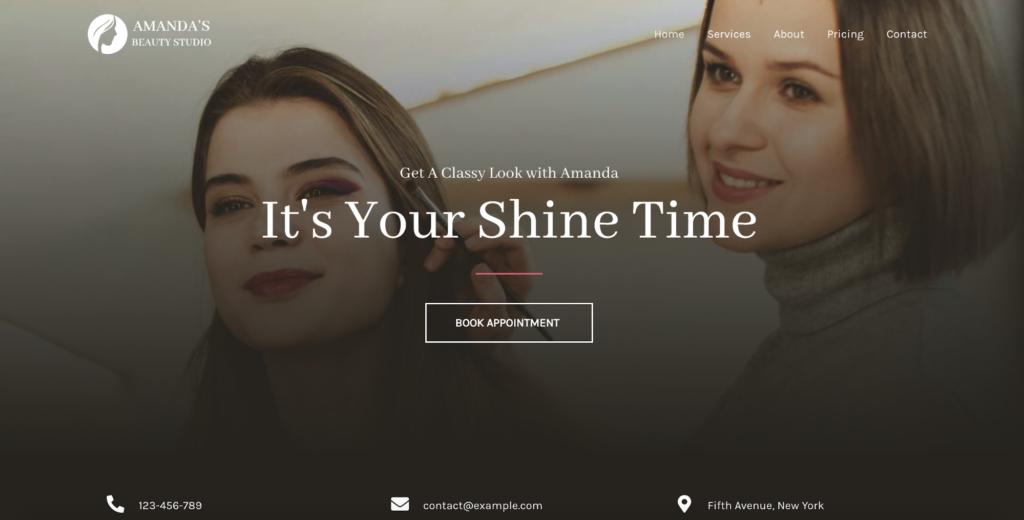 makeup artist studio astra starter site