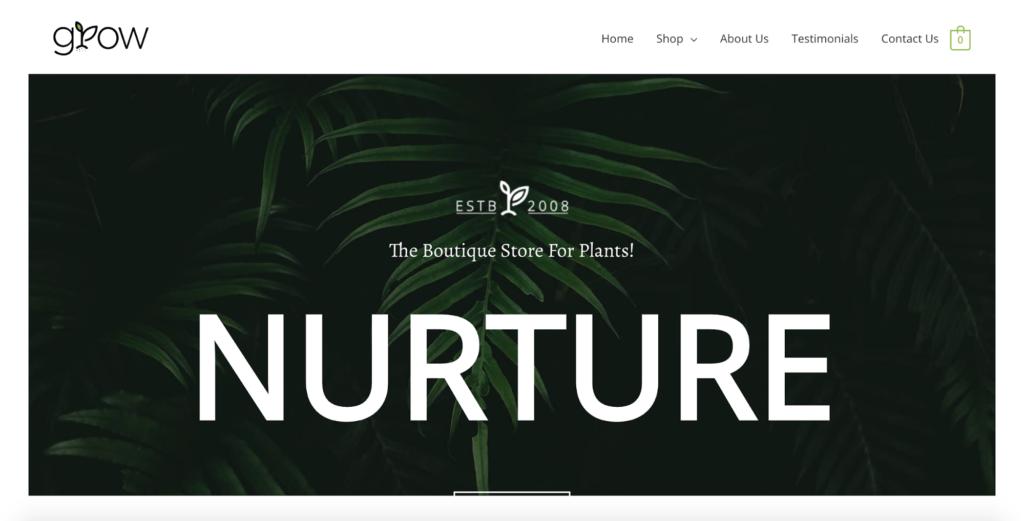 plant shop astra starter site