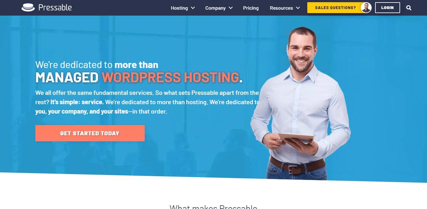 Pressable hosting homepage