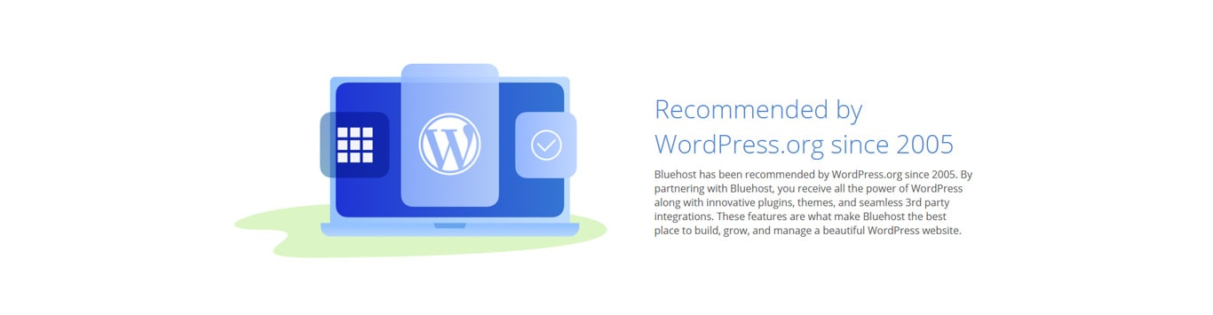 Recomended by WordPress graphic