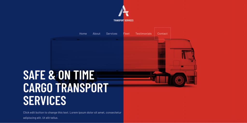 transport services starter templates