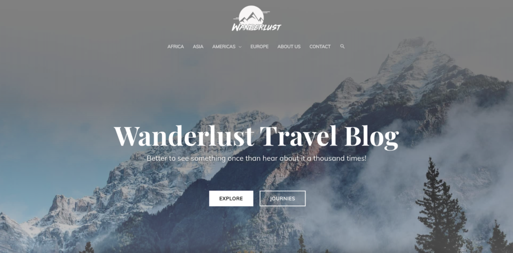 wanderlust travel blog astra starter site
