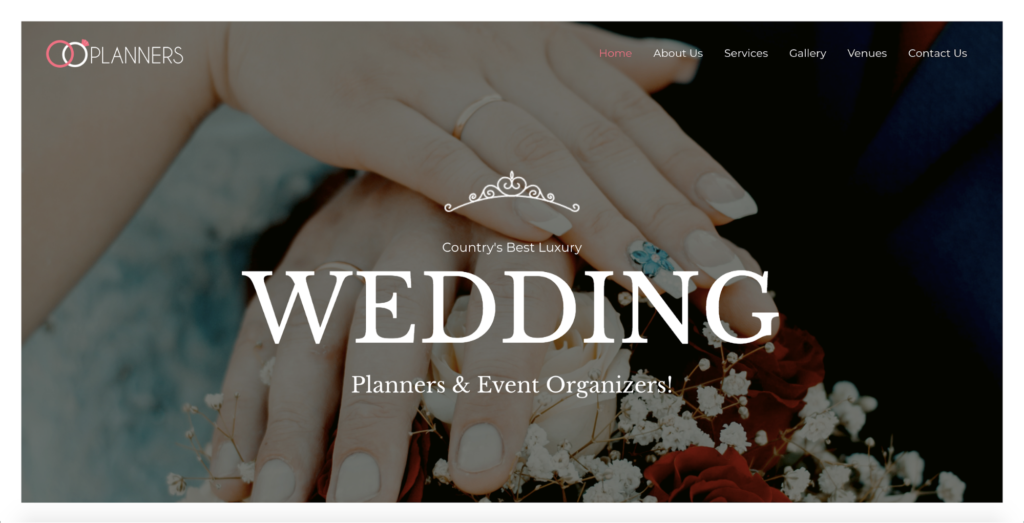 wedding planner astra starter site