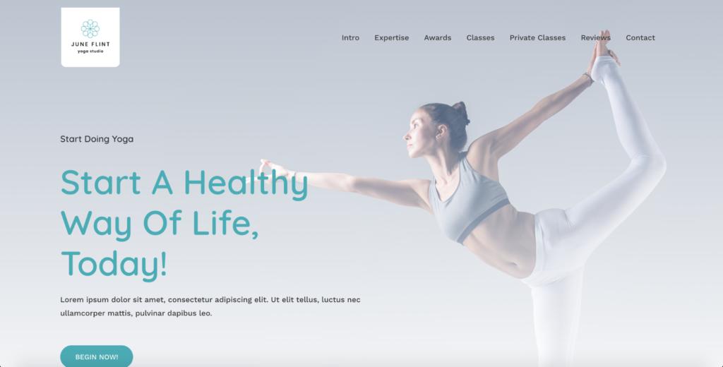 yoga studio astra starter site