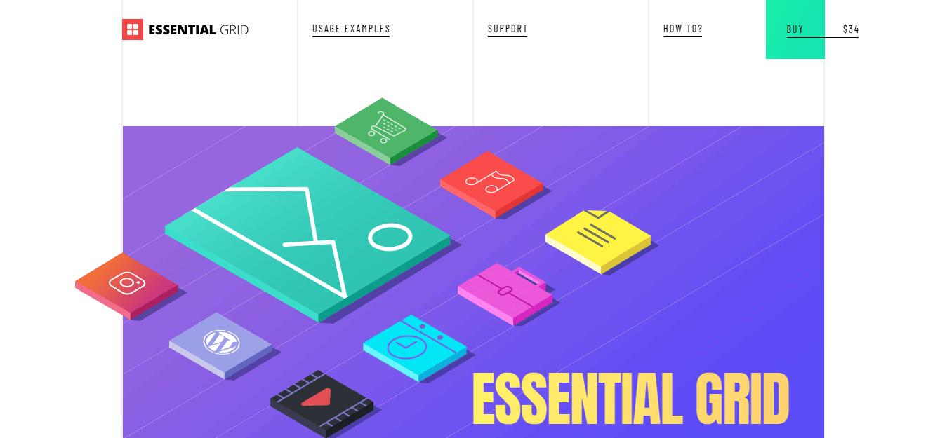 Essential grid download page screenshot