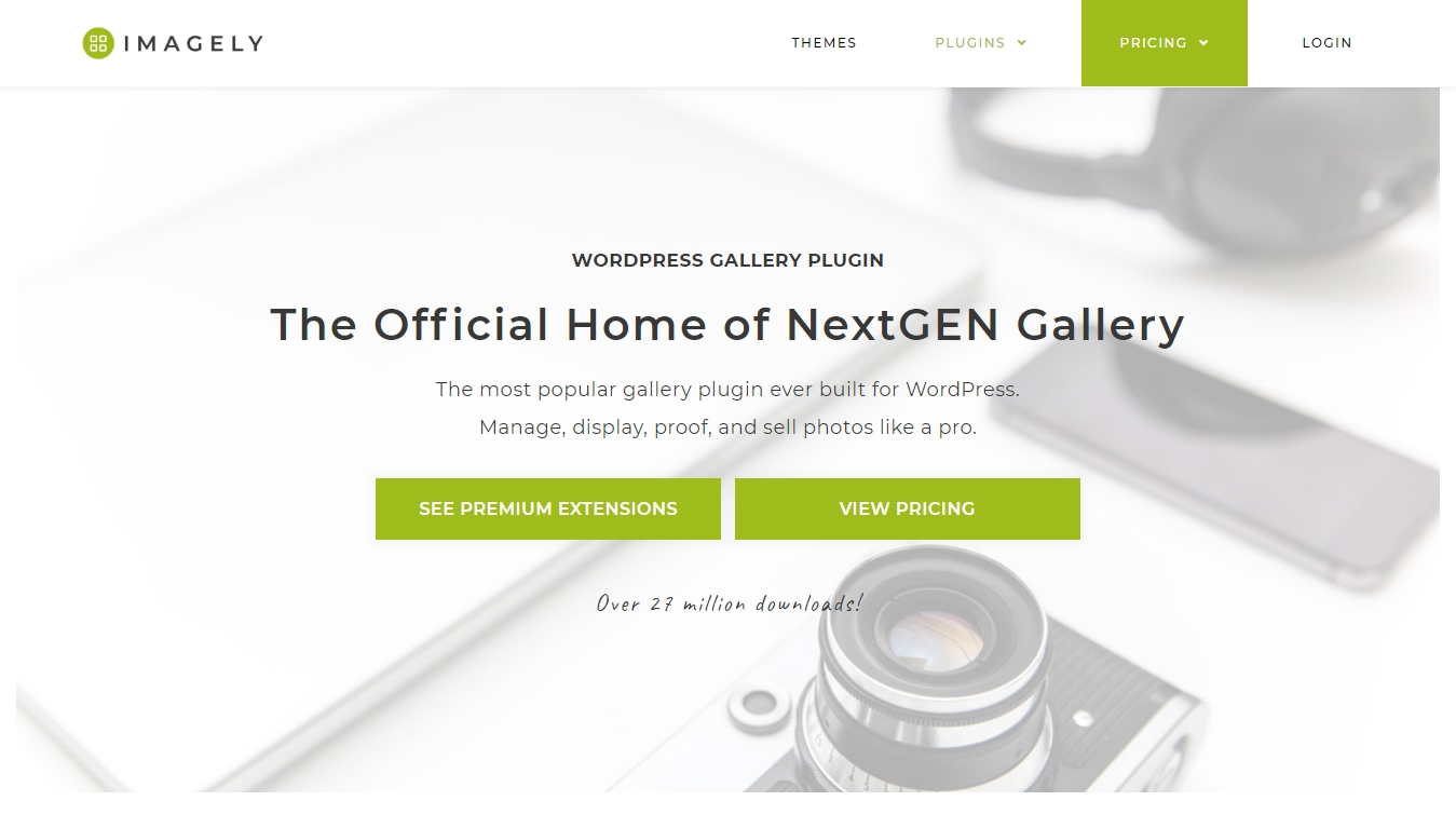 NextGEN Gallery homepage screenshot
