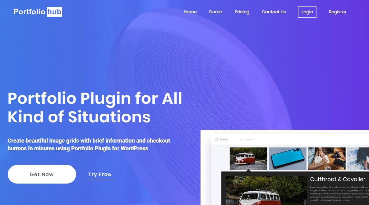 Portfolio Builder plugin homepage