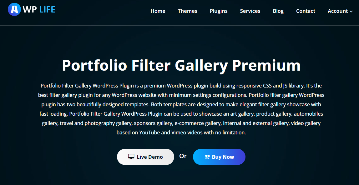 Portfolio Gallery plugin download page on WordPress.org