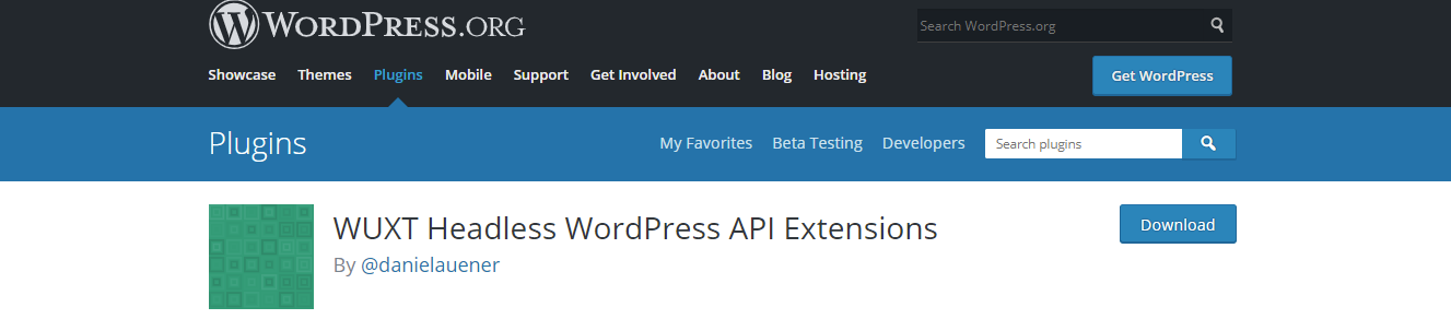 headless wordpress extension