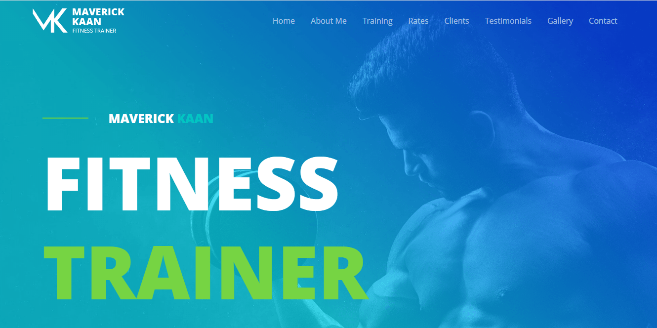 Fitness Trainer Astra template homepage