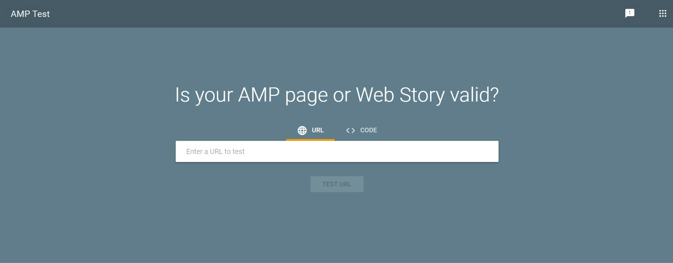 Google AMP test tool