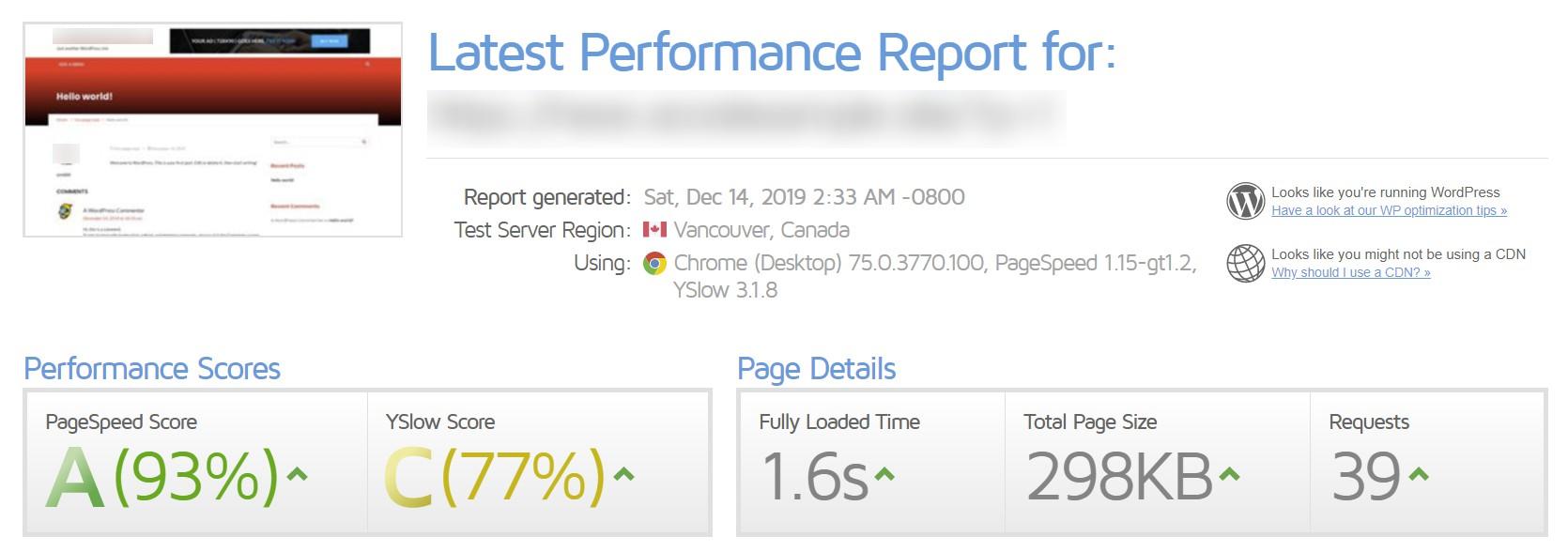 NewsMag speedtest results