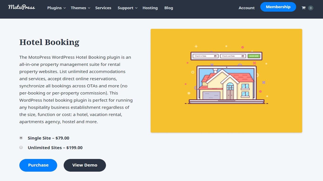 A booking plugin made for hotels.