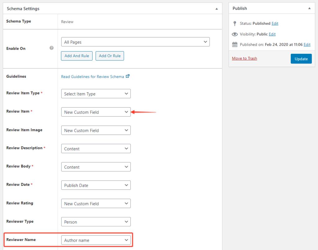 Adding custom fields using Schema Pro