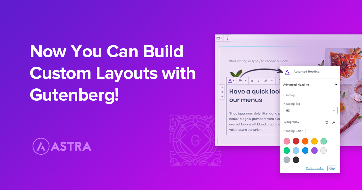 Custom Layouts with Gutenberg